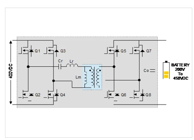 用于OBC的DC-DC级的LLC谐振转换器拓扑