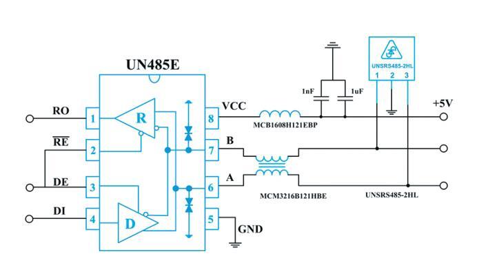RS485端口的静电放电及雷击浪涌过压防护应用