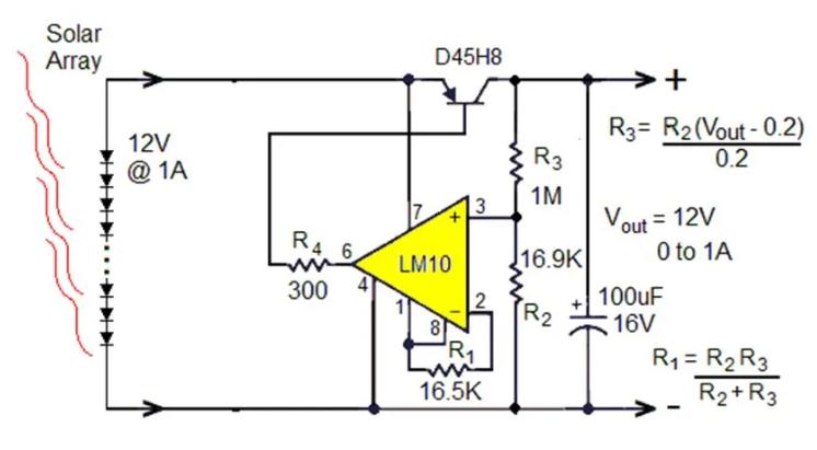 小型太阳能光伏电源的串联以及并联线性稳压