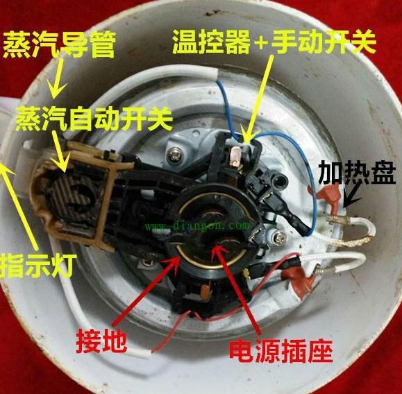 电开水壶的加热原理图_水壶卡通图片