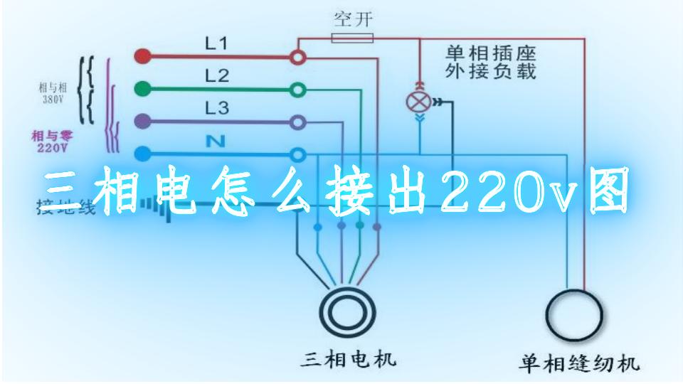 三相电怎么接出220v图