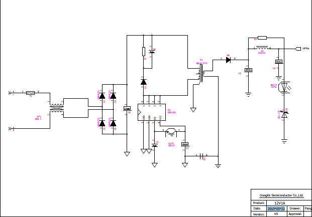 12v的电源适配器原理图_12v电源电路图原理图