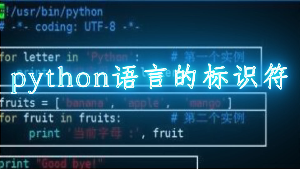python语言的标识符