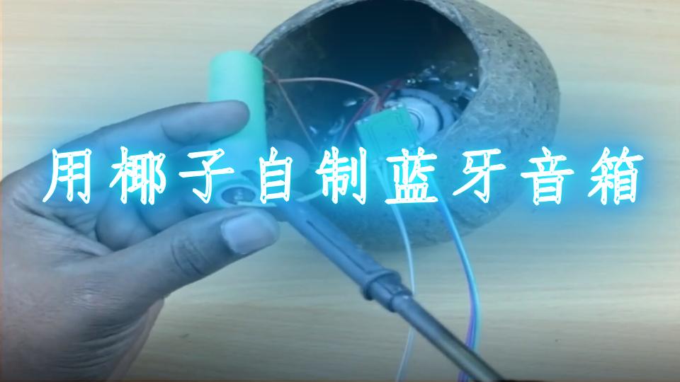 用椰子自制蓝牙音箱