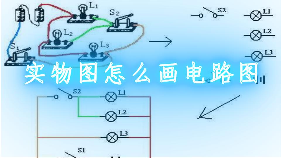 实物图怎么画电路图