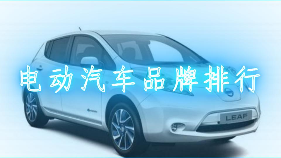 电动汽车品牌排行