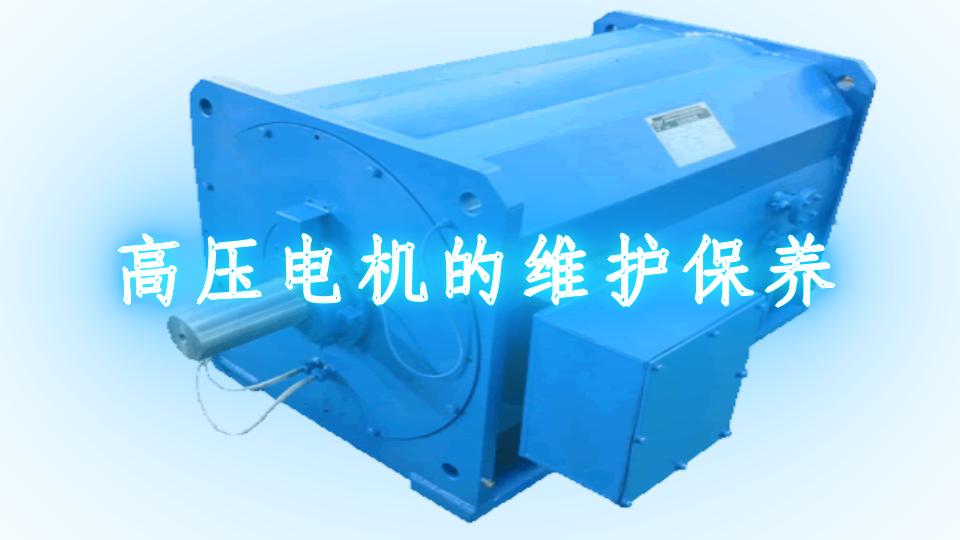 高压电机的维护保养