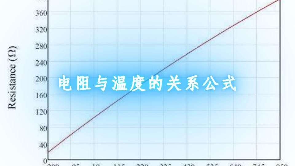 电阻与温度的关系公式