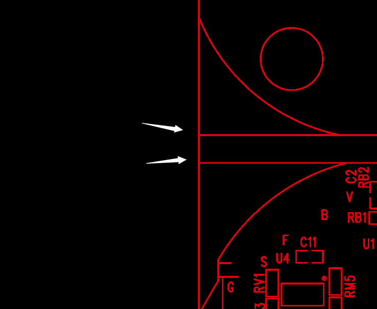 拼板v-cut与v-cut间距。示意图1