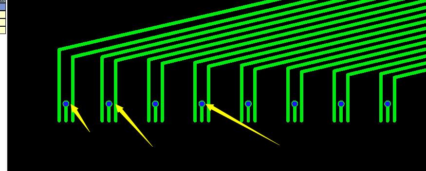 PCB过孔到线距离太近示意图1
