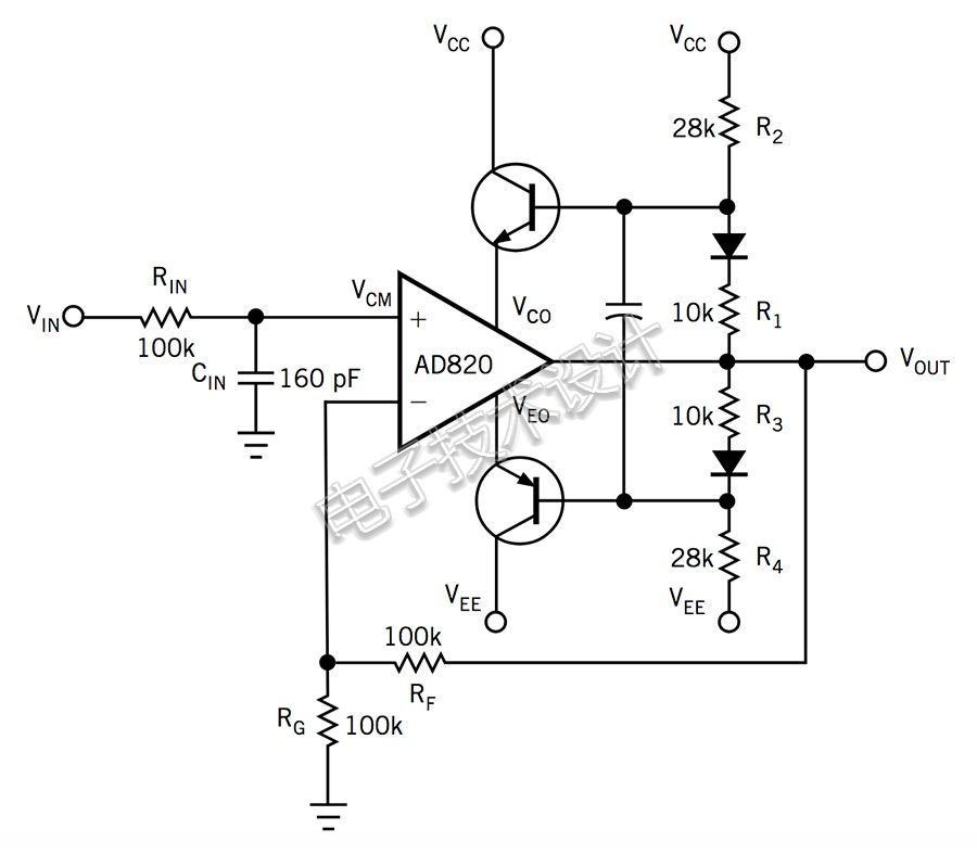 如何调整大约50V的运算放大器