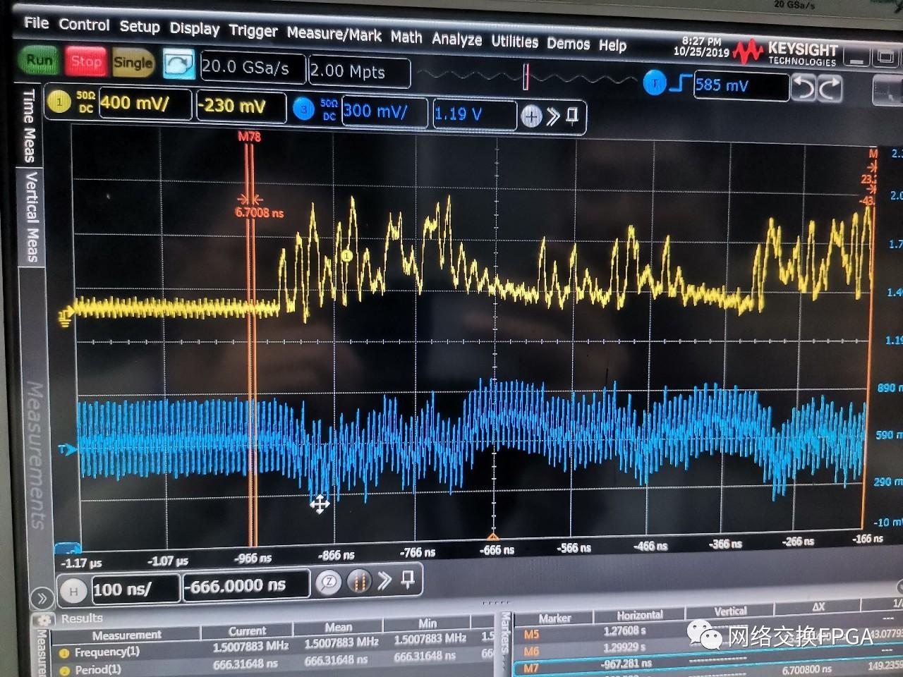FPGA調試的LVDS信號線間串擾問題