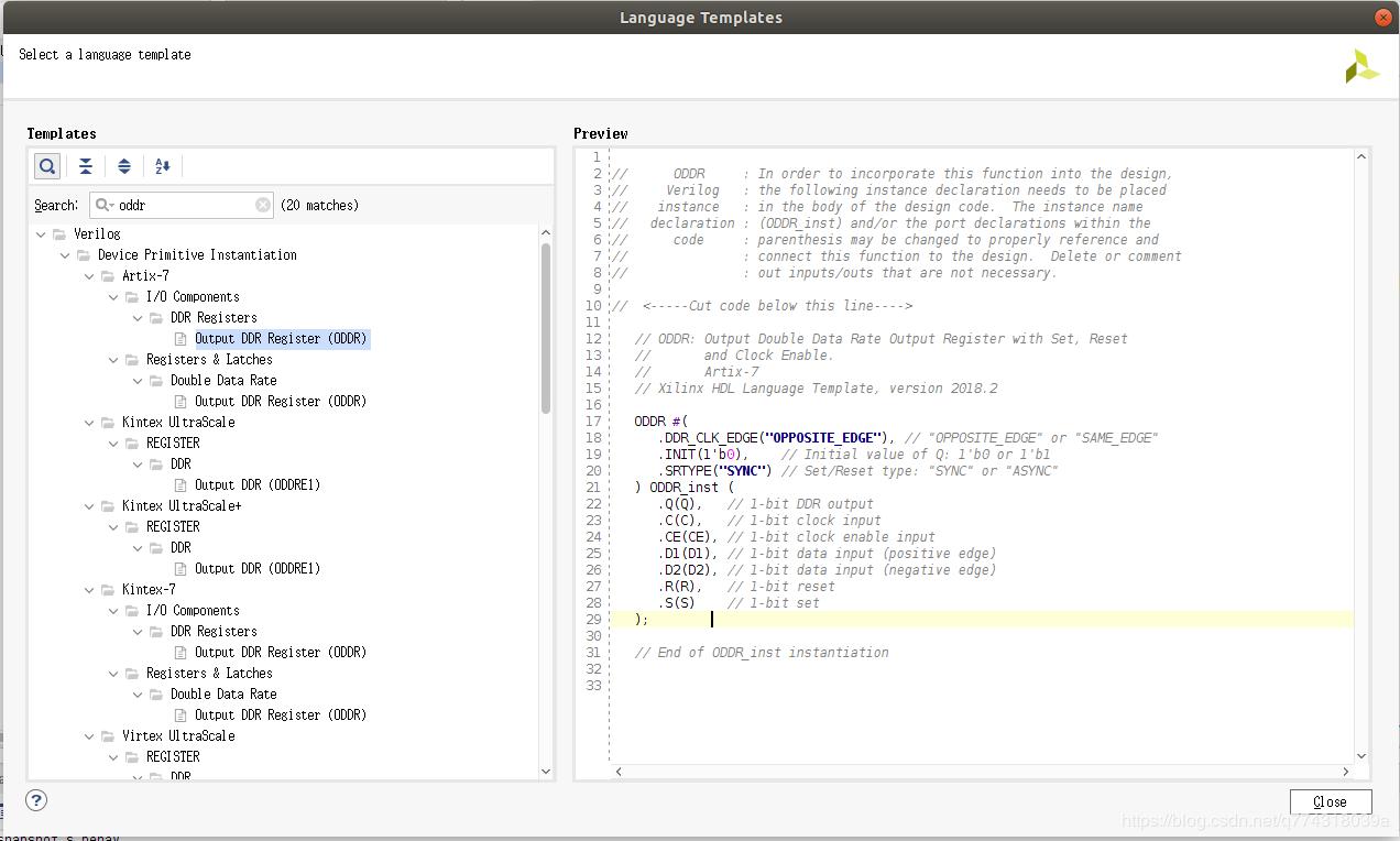 xilinx FPGA中oddr,idelay的用法详解