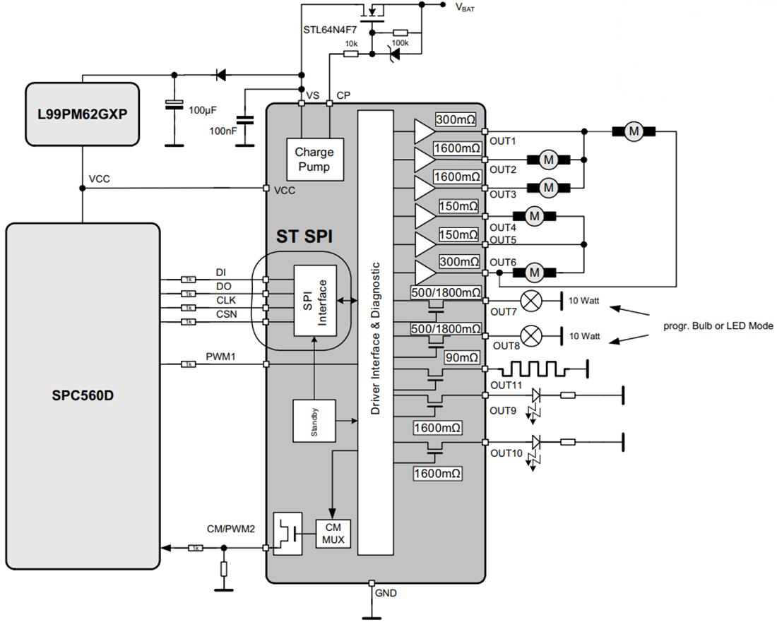 L99MOD50XPTR STMicroelectronics L99MOD50XP多输出驱动器