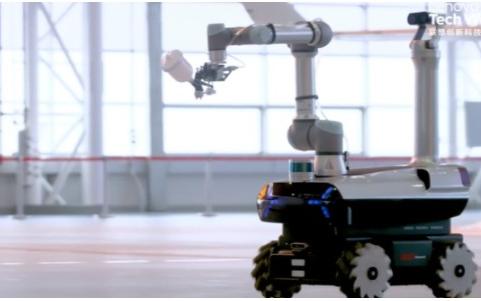 """联想发布首款自研工业机器人——""""晨星"""",专为国产大飞机制造而工作"""