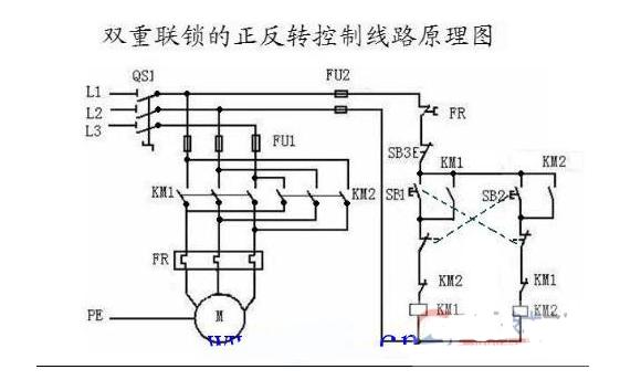 380V电机正反转接触器的接线图及工作原理