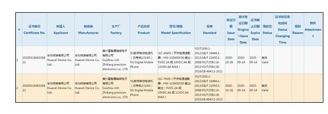 华为首次在Mate系列旗舰之外提供66W快充支持