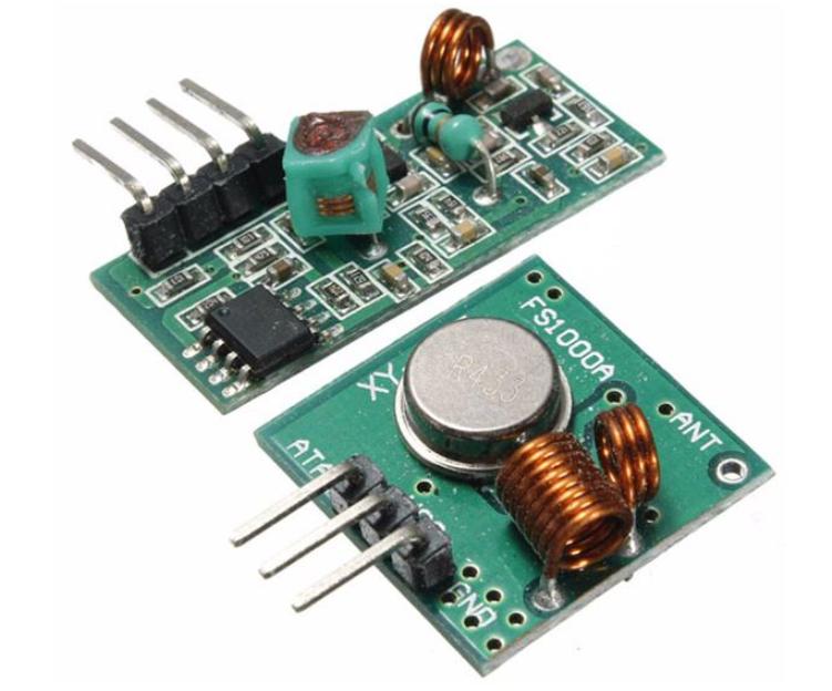 基于微控制器的433MHz发射器和接收器模块间的...