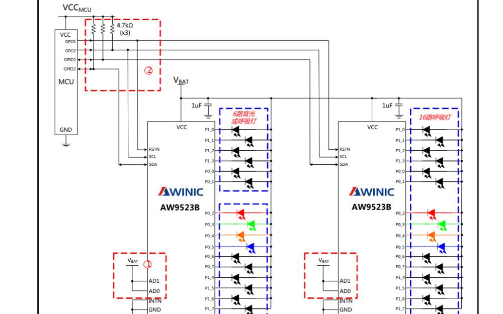 AW9523B呼吸燈驅動IC的數據手冊免費下載