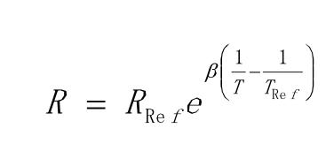 NTC热敏电阻不同温度下的电阻值计算