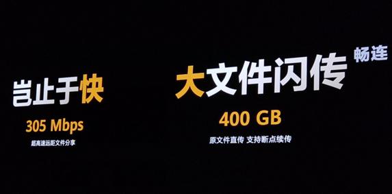 华为Mate40系列黑科技闪传技术首发,305M...