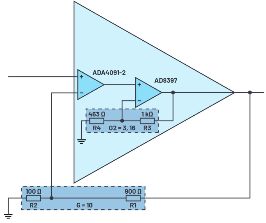 運算放大器的串聯:如何同時實現高精度和高輸出功率