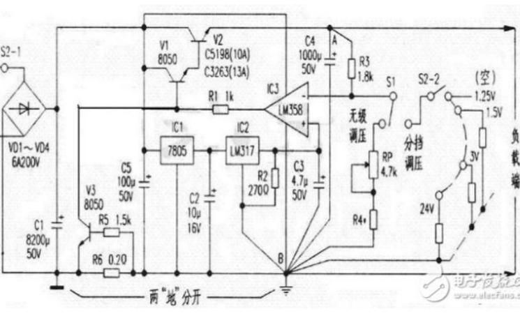 电源工程师必看可调稳压电源电路图大全