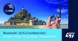 意法半導體發布了其最新的Bluetooth LE系統芯片(SoC)BlueNRG-LP