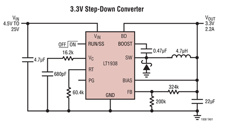 单片式降压型开关稳压器LT1938的性能特点及应...