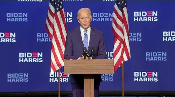 拜登发表讲话:我并不是在宣布胜选,只是相信我们一...