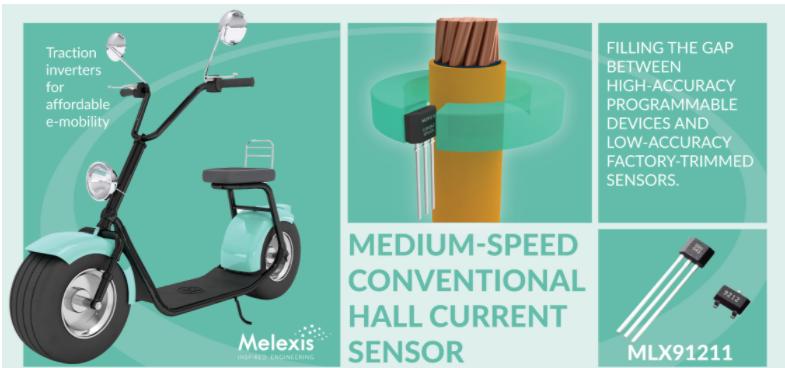 Melexis推出针对经济适用型电动汽车进行优化的高精度电流传感器IC