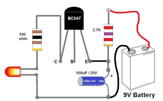 奇怪的基于BC547-NPN震蕩演示電路