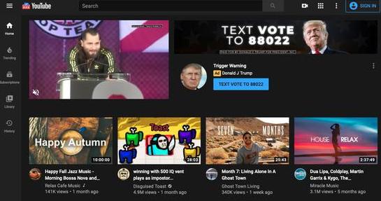 特朗普为获美国大选,疯狂在YouTube投放广告
