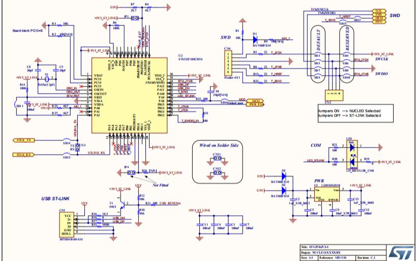 Nucleo 開發板官方原理圖免費下載
