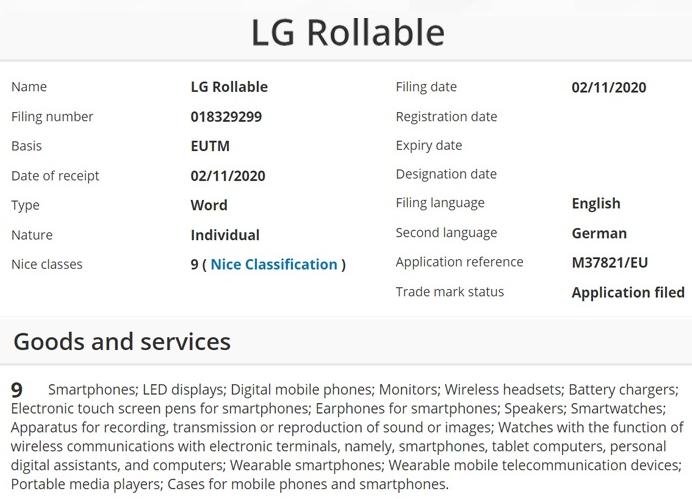 LG申请新商标,或将在明年3月推可伸缩屏的概念智...