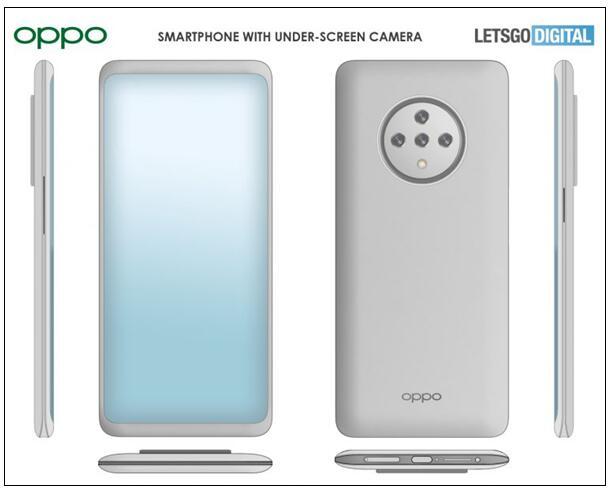 OPPO新机专利图曝光:采用全面屏设计和圆形摄像...