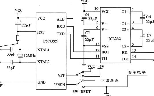 P89C669单片机和ZLG7289A实现可编程...