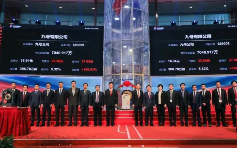 九號機器人成功上市,市值突破 300 億元大關