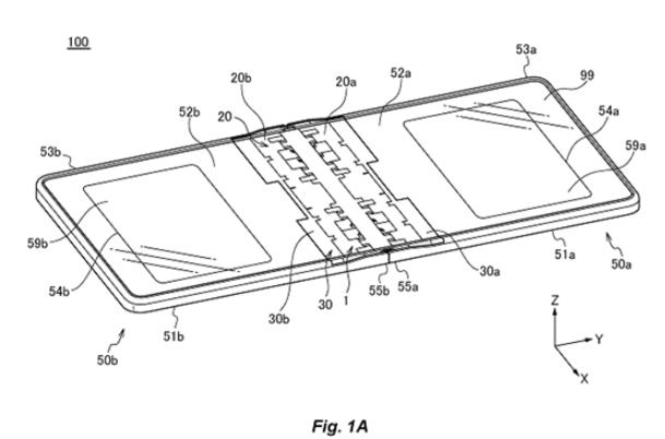 華為新型機型專利曝光,采用翻蓋式折疊屏設計