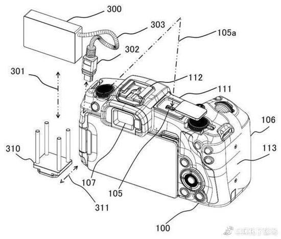 佳能公布外接USB热靴存储和供电附件专利 可共同...