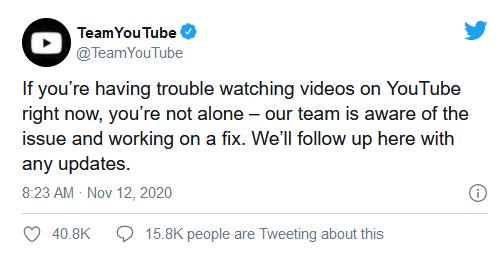 重大危机!YouTube所有视频播放报错