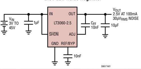 低壓差電壓線性穩壓器LT3060的性能特點及適用...