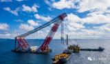 国内首个采用斜桩嵌岩形式的海上升压站导管架基础施工