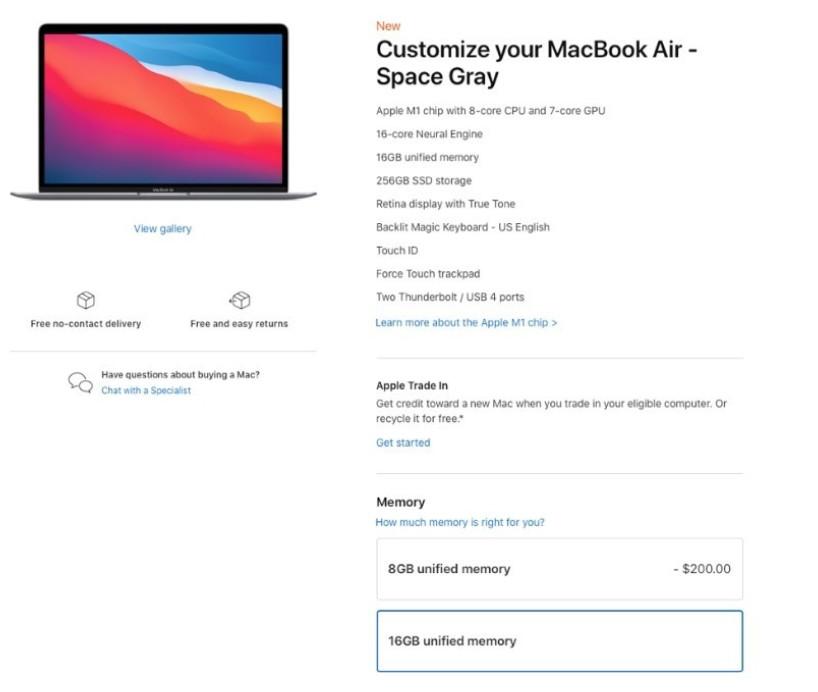 苹果新款MacBook Air/Pro加8GB内...