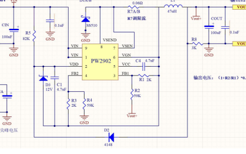 48V转12V电源芯片电源芯片电路图
