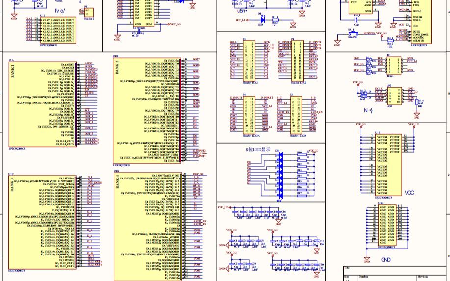 FPGA最小核心板官方電路原理圖