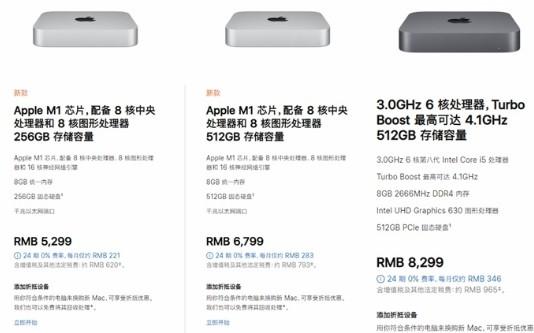 全新M1芯片Mac mini跑分与MacBook...