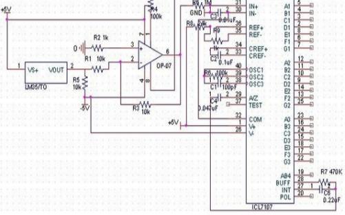 ICL7107的引腳圖及引腳功能介紹