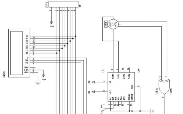 51单片机测电机转速LCD显示