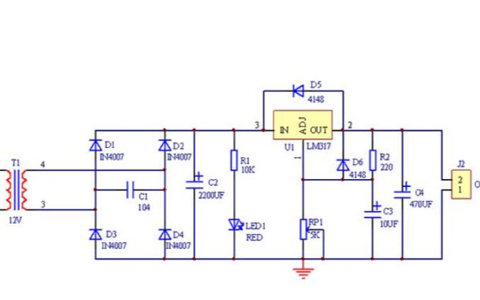 正负15v直流稳压电源的电路原理图免费下载